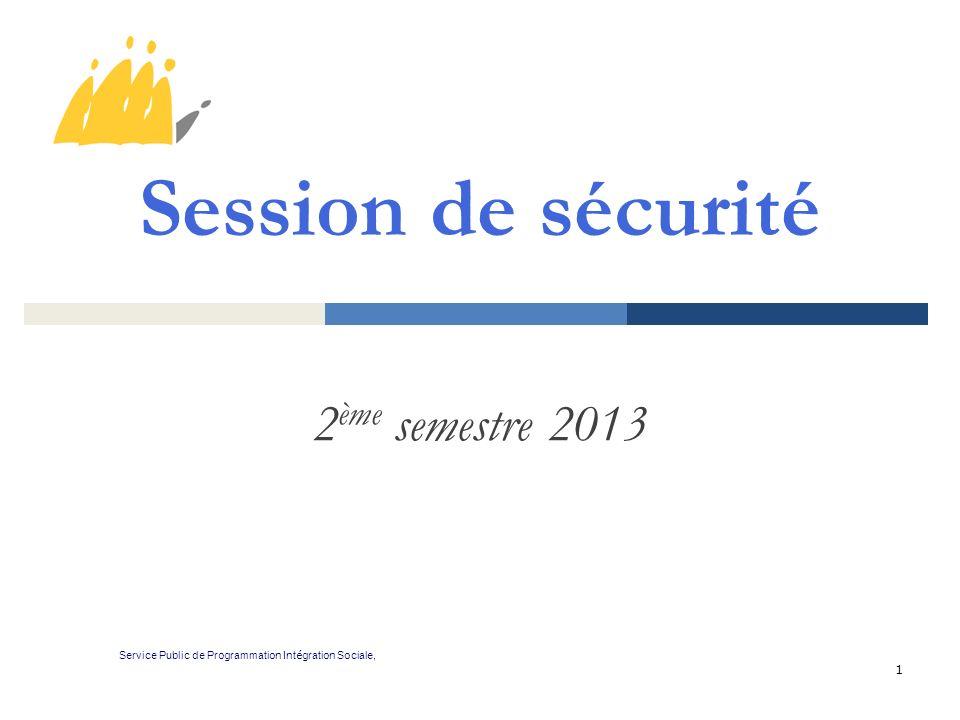 Session de sécurité 2ème semestre 2013