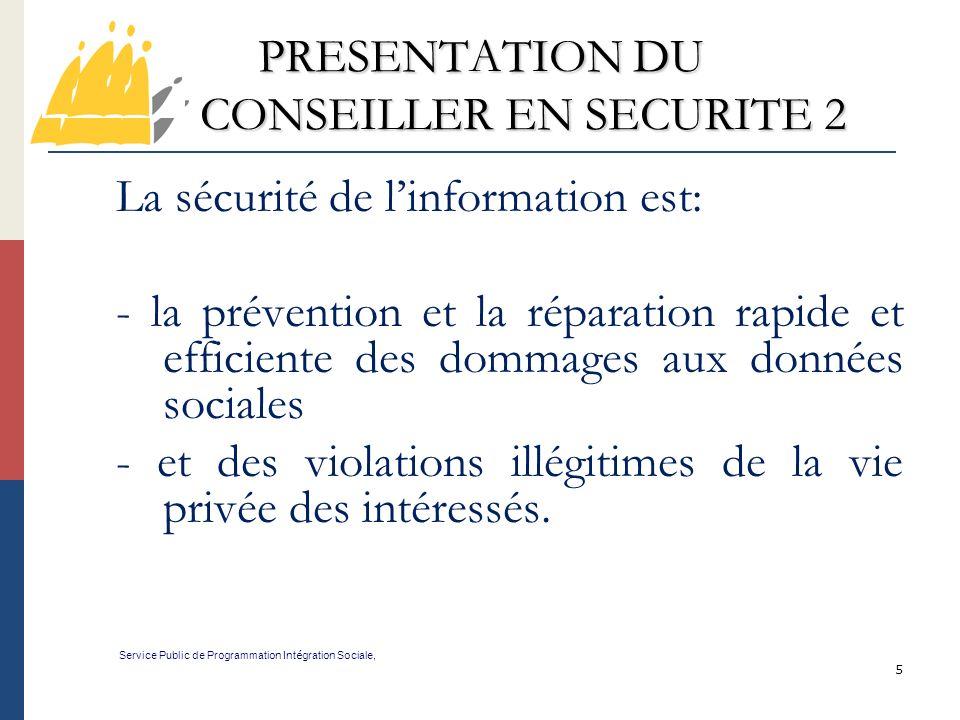 PRESENTATION DU CONSEILLER EN SECURITE 2