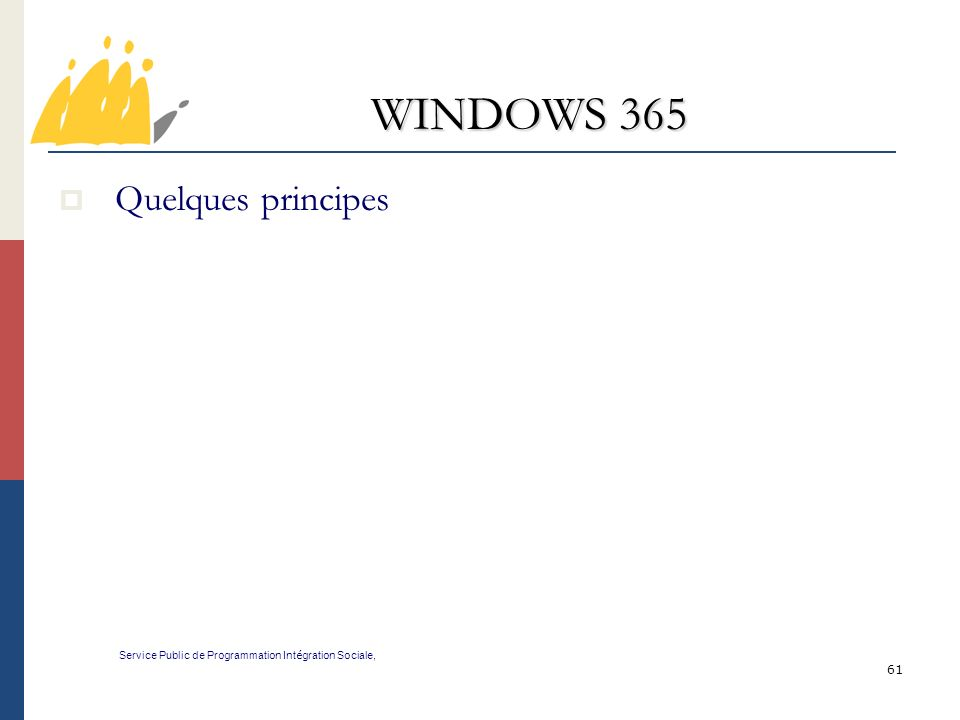 WINDOWS 365 Quelques principes 61