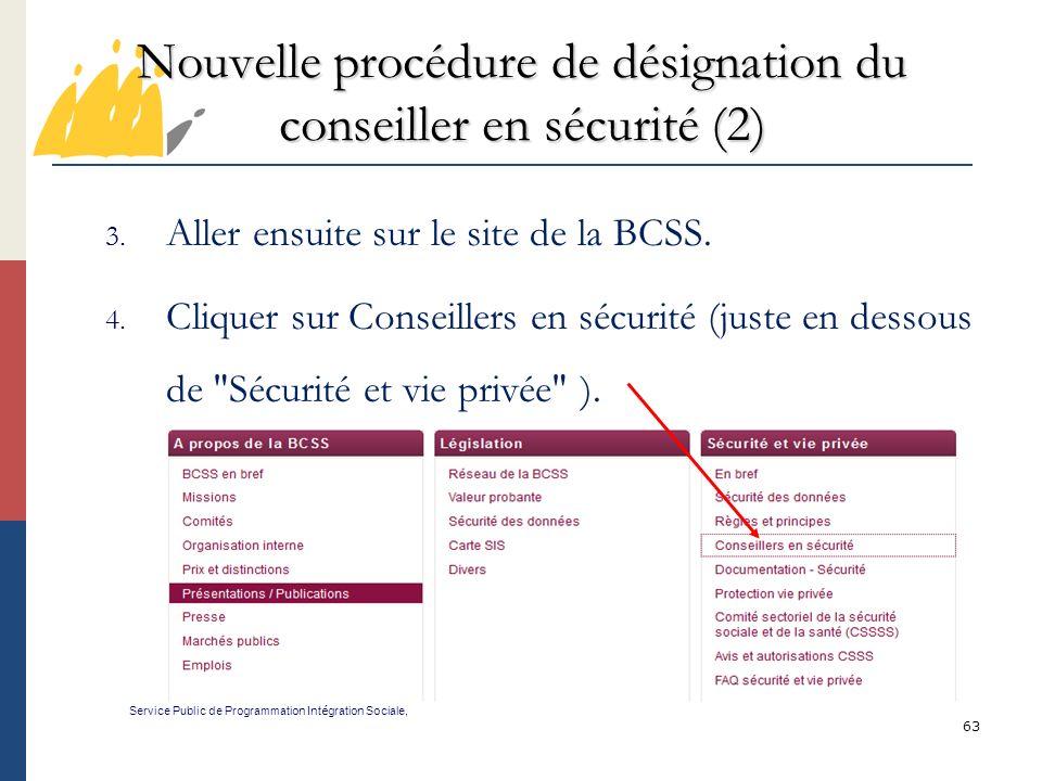 Nouvelle procédure de désignation du conseiller en sécurité (2)