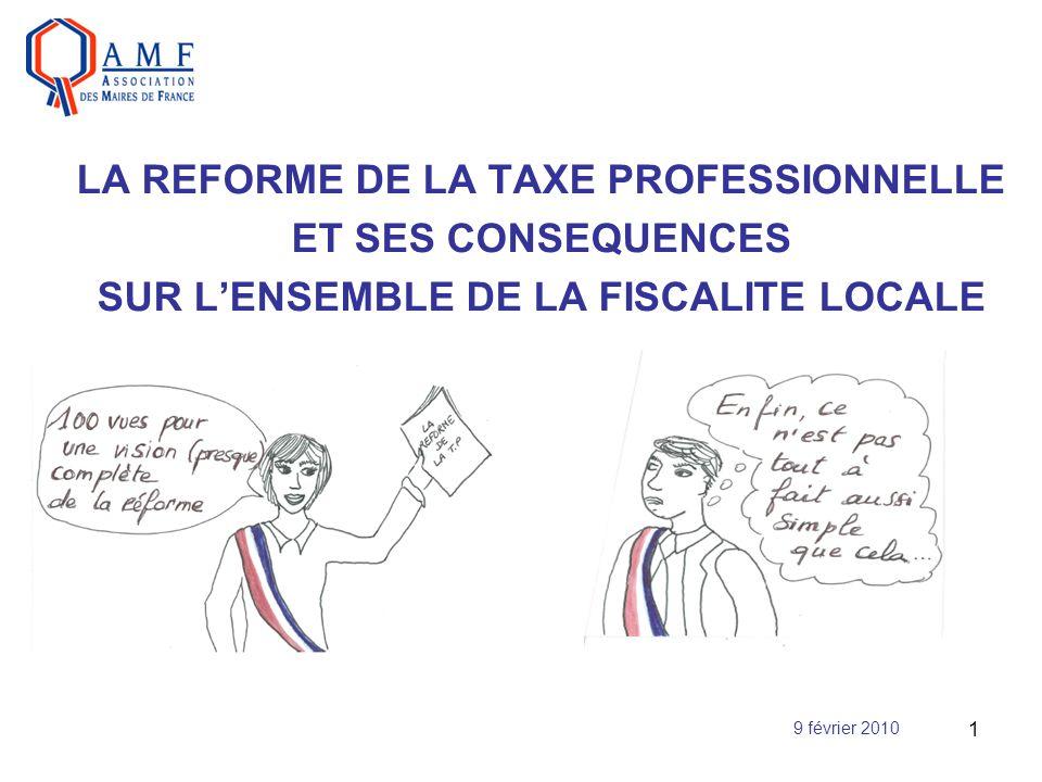 LA REFORME DE LA TAXE PROFESSIONNELLE ET SES CONSEQUENCES