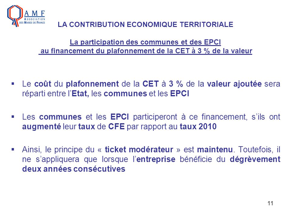 LA CONTRIBUTION ECONOMIQUE TERRITORIALE