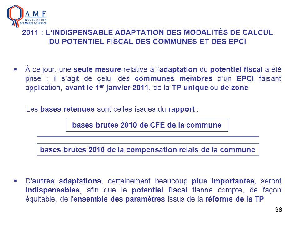 bases brutes 2010 de CFE de la commune