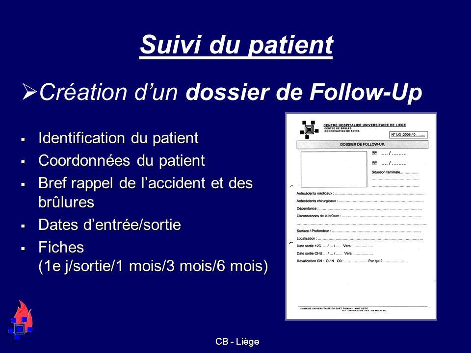 Suivi du patient Création d'un dossier de Follow-Up