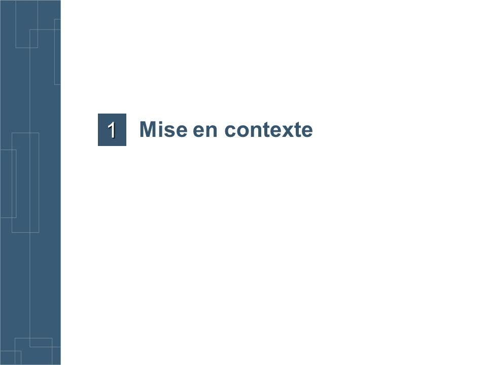 1 Mise en contexte