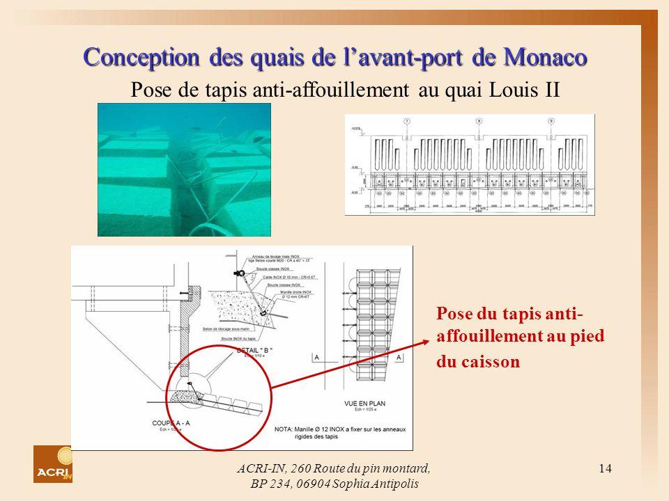 Conception des quais de l'avant-port de Monaco