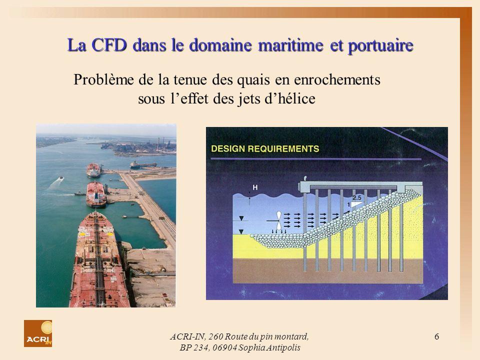 La CFD dans le domaine maritime et portuaire