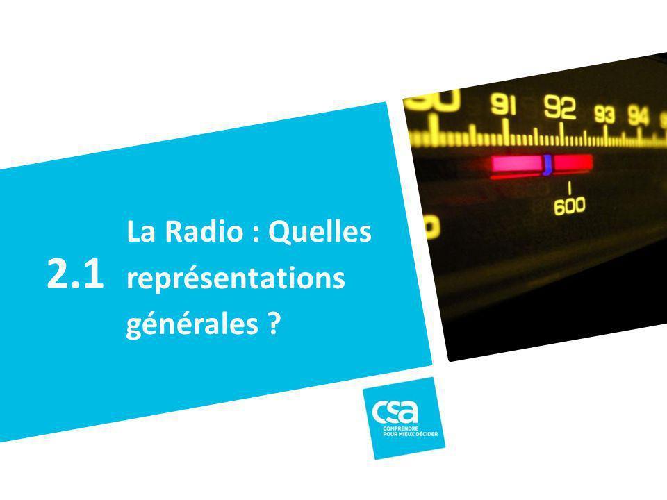 La Radio : Quelles représentations générales