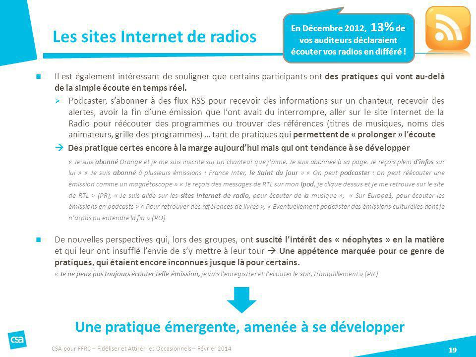 Les sites Internet de radios