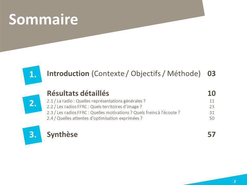 Sommaire 1. 2. 3. Résultats détaillés 10 Synthèse 57