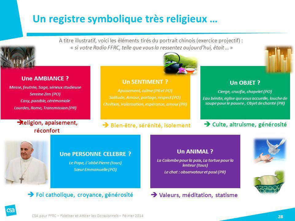 Un registre symbolique très religieux …