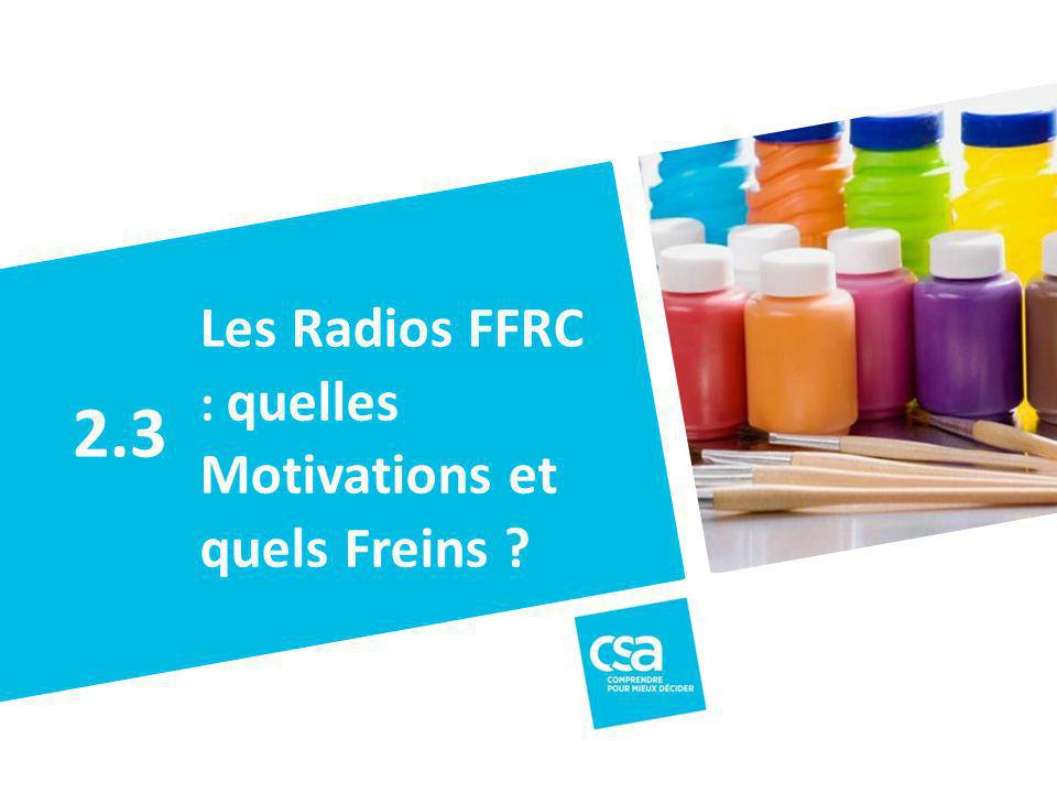 Les Radios FFRC : quelles Motivations et quels Freins