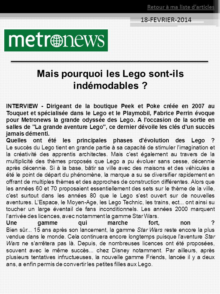 Mais pourquoi les Lego sont-ils indémodables