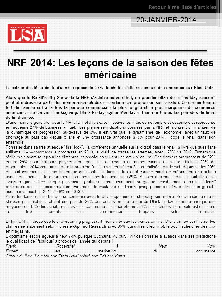 NRF 2014: Les leçons de la saison des fêtes américaine