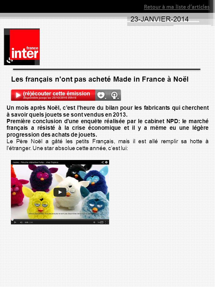 Les français n ont pas acheté Made in France à Noël