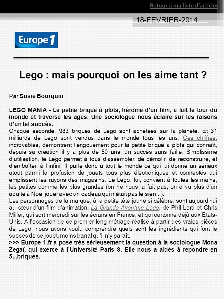 Lego : mais pourquoi on les aime tant