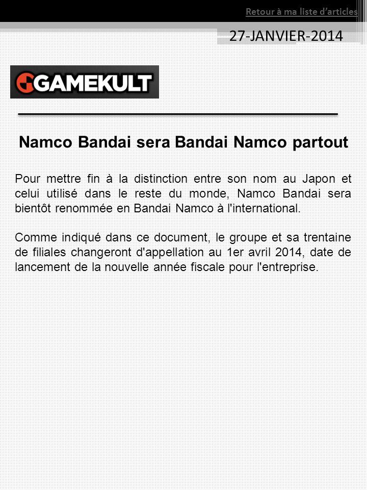Namco Bandai sera Bandai Namco partout