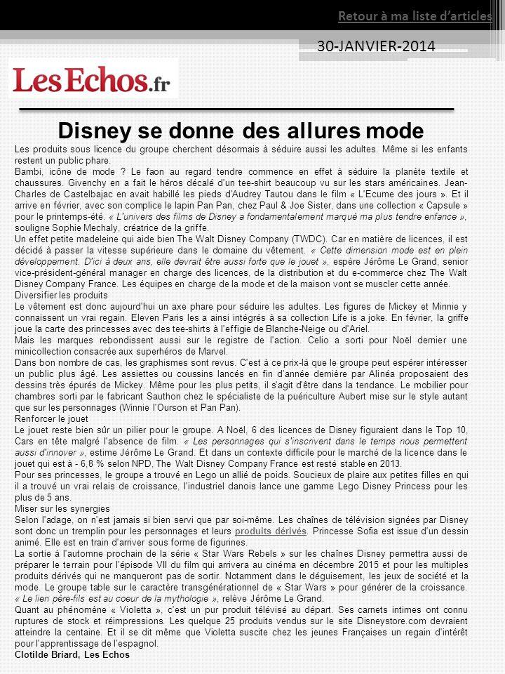 Disney se donne des allures mode