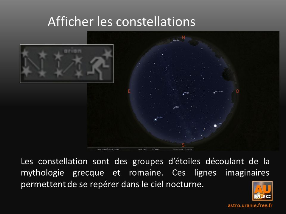 Afficher les constellations