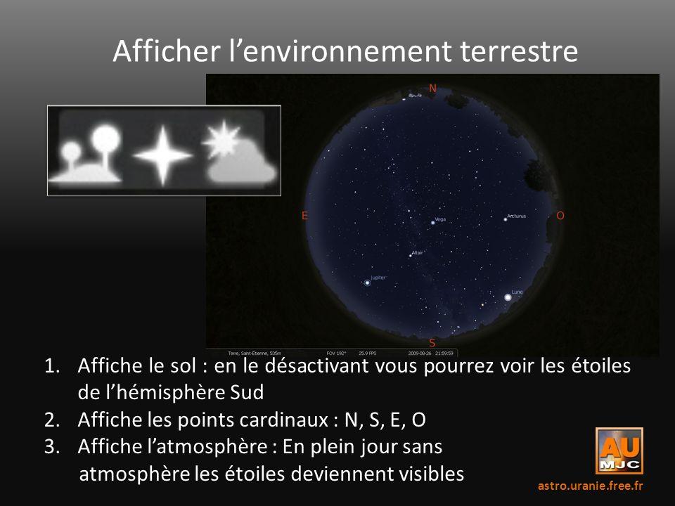 Afficher l'environnement terrestre