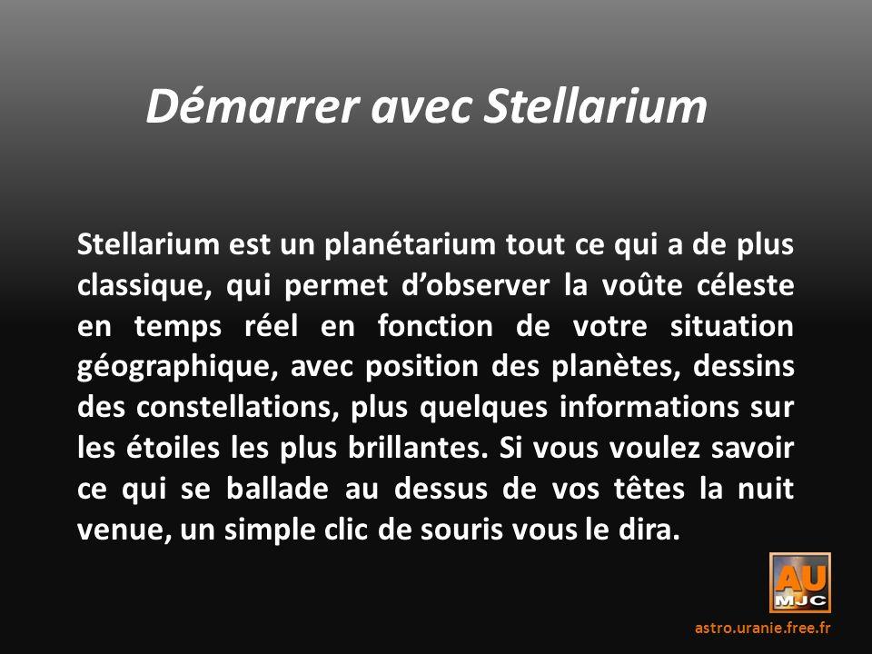 Démarrer avec Stellarium