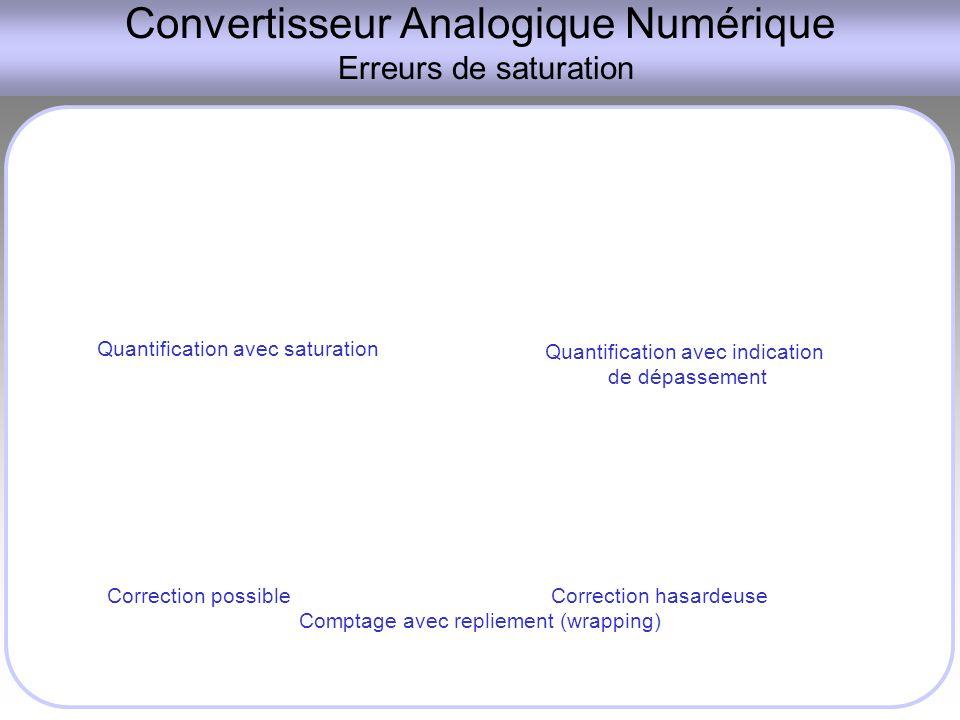 Convertisseur Analogique Numérique Erreurs de saturation