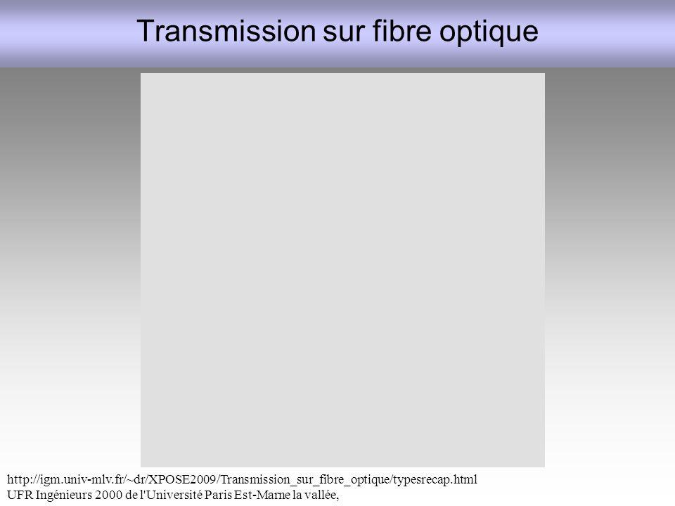 Transmission sur fibre optique