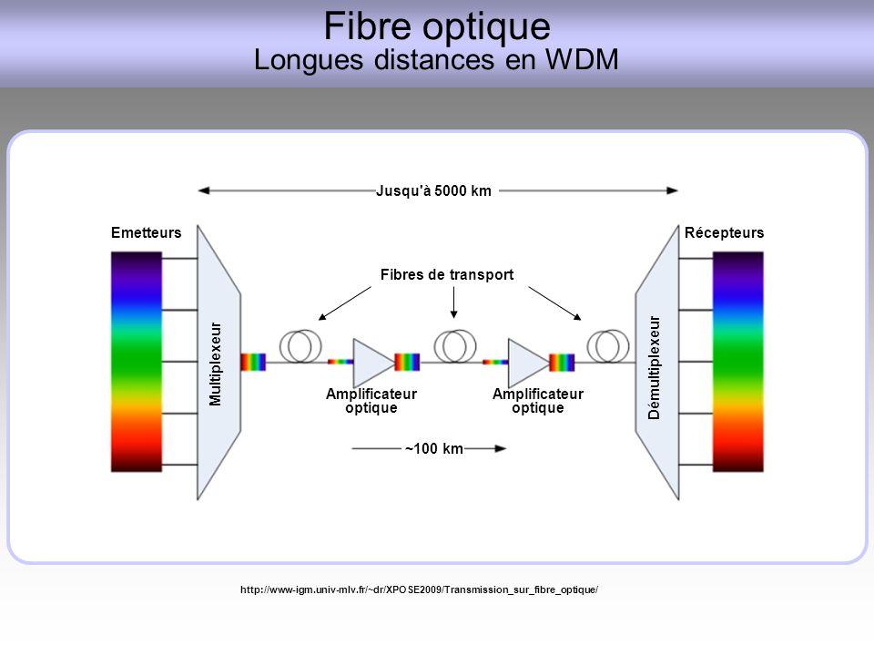 Fibre optique Longues distances en WDM