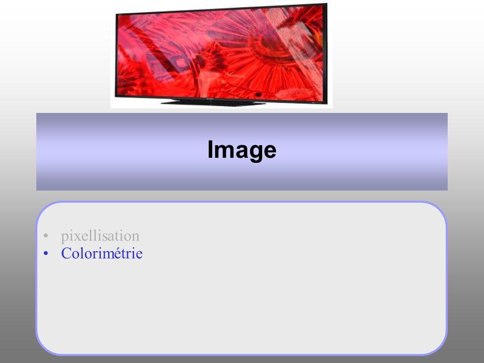 Image pixellisation Colorimétrie