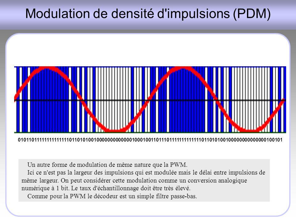 Modulation de densité d impulsions (PDM)