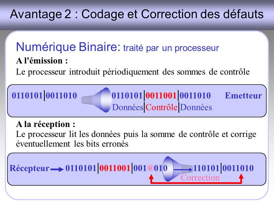 Avantage 2 : Codage et Correction des défauts