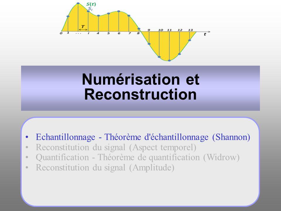 Numérisation et Reconstruction