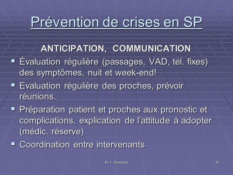 Prévention de crises en SP