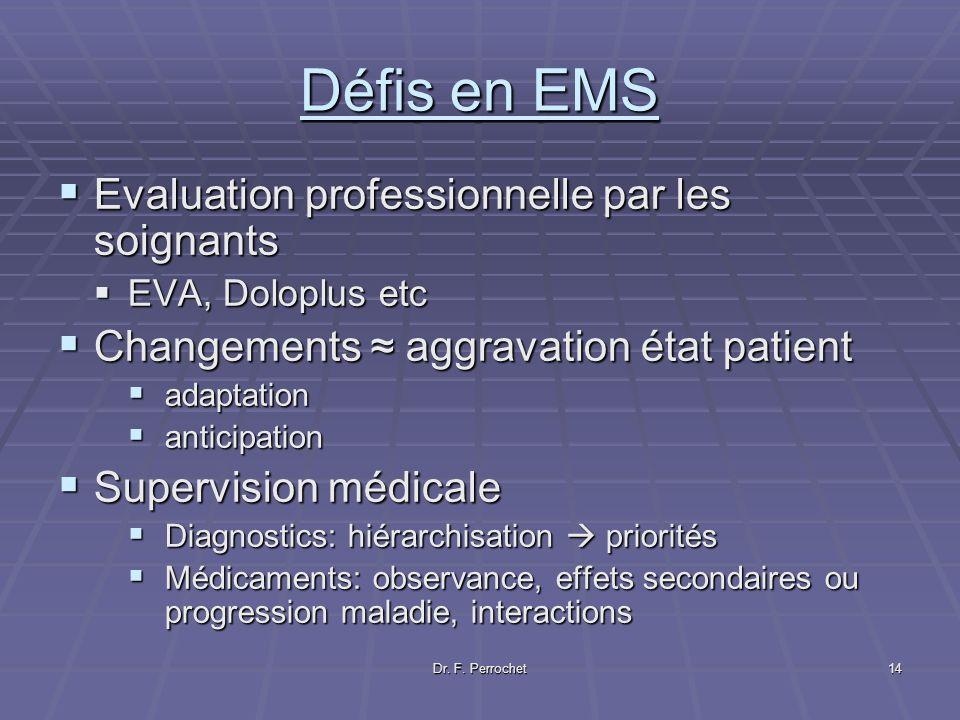 Défis en EMS Evaluation professionnelle par les soignants