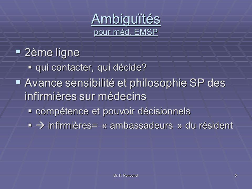 Ambiguïtés pour méd. EMSP