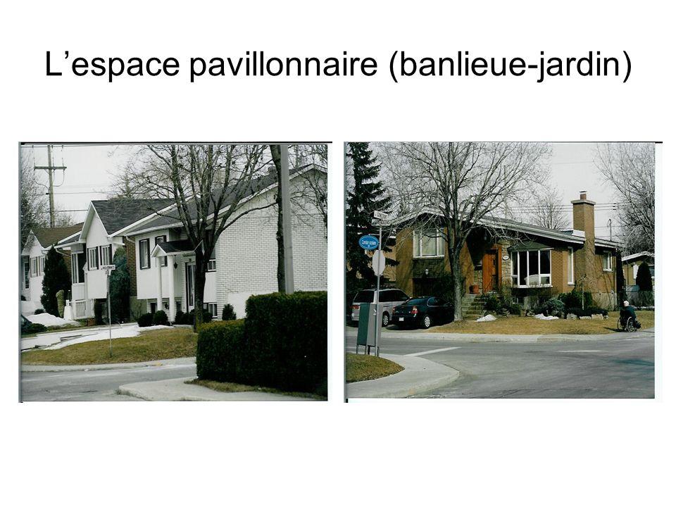 L'espace pavillonnaire (banlieue-jardin)