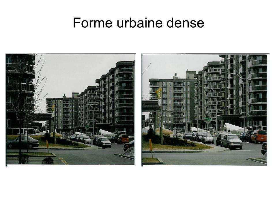 Forme urbaine dense