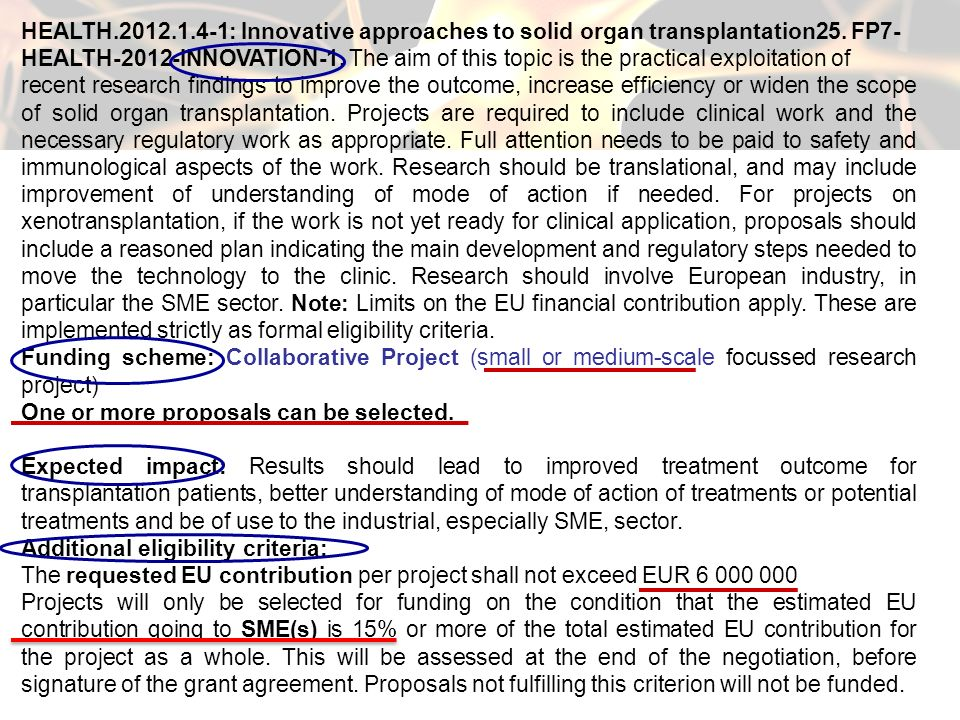 HEALTH.2012.1.4-1: Innovative approaches to solid organ transplantation25. FP7-
