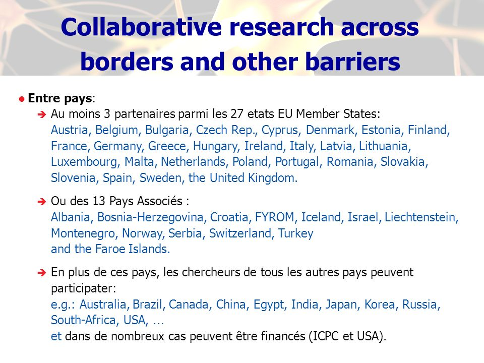 Collaborative research across borders and other barriers