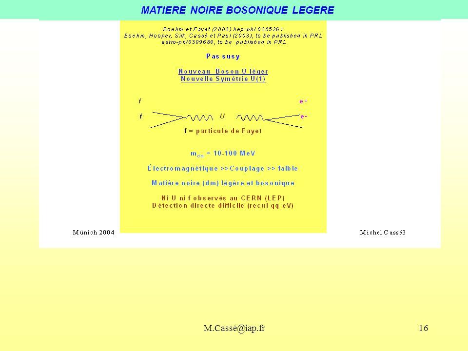 MATIERE NOIRE BOSONIQUE LEGERE