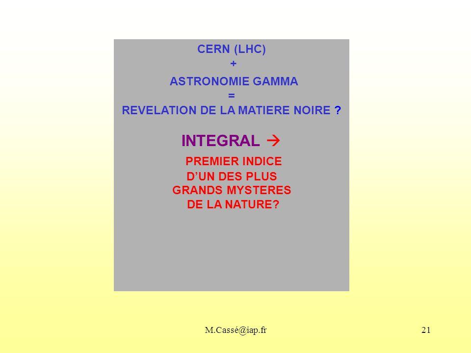 REVELATION DE LA MATIERE NOIRE
