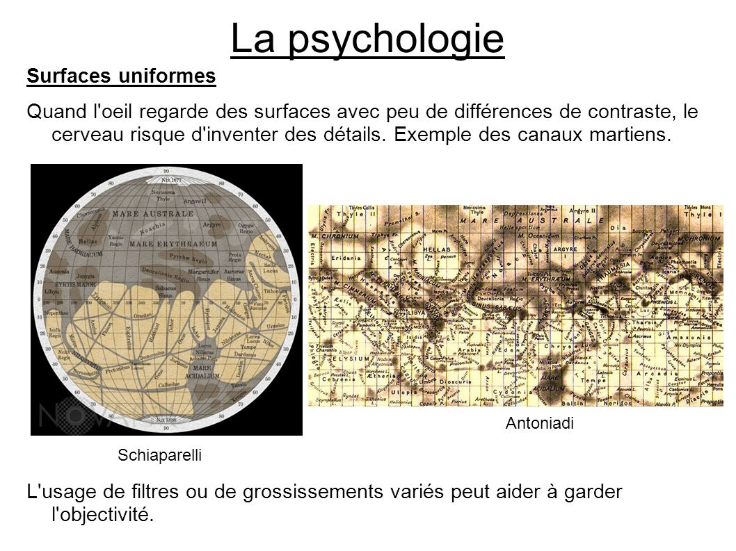 La psychologie Surfaces uniformes