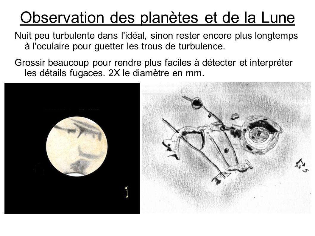 Observation des planètes et de la Lune