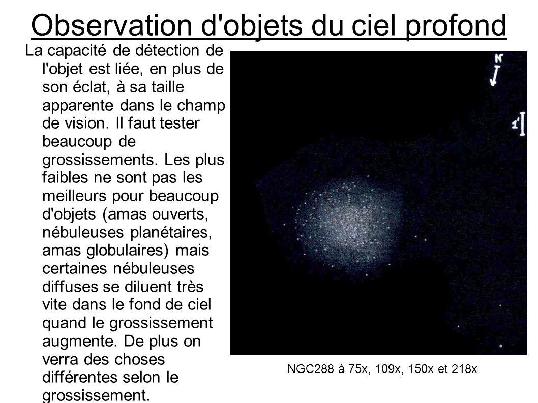 Observation d objets du ciel profond