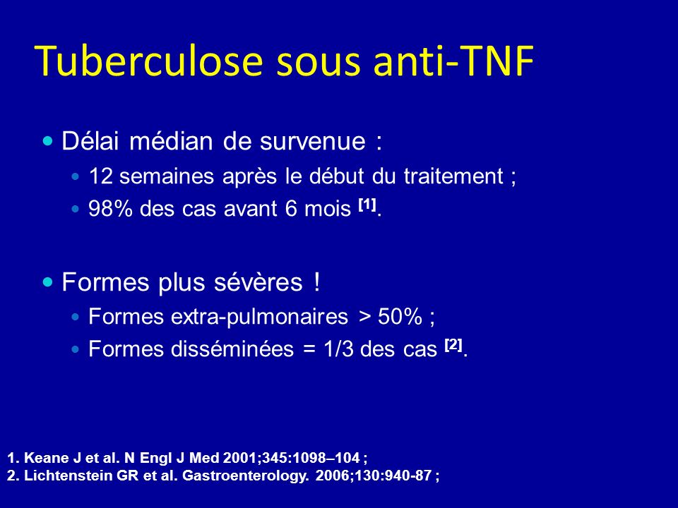 Tuberculose sous anti-TNF