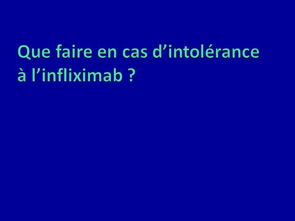 Que faire en cas d'intolérance à l'infliximab