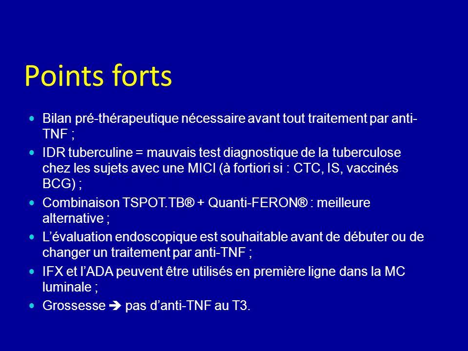 Points forts Bilan pré-thérapeutique nécessaire avant tout traitement par anti-TNF ;