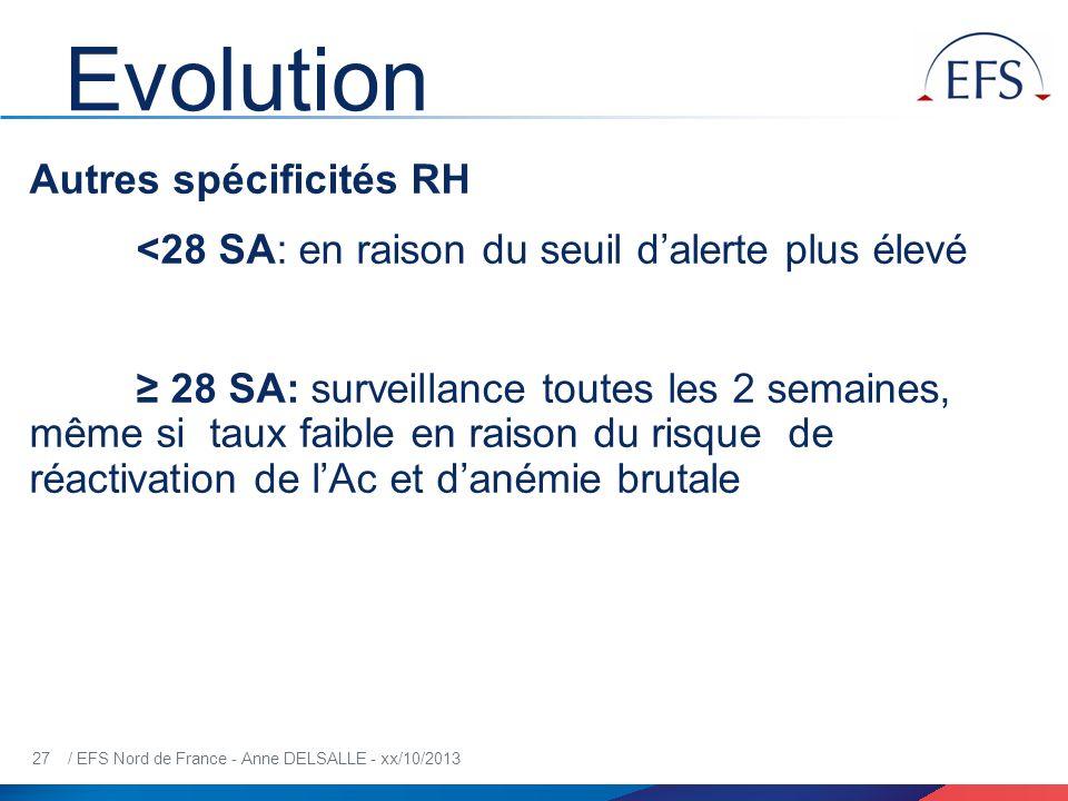 Evolution Autres spécificités RH