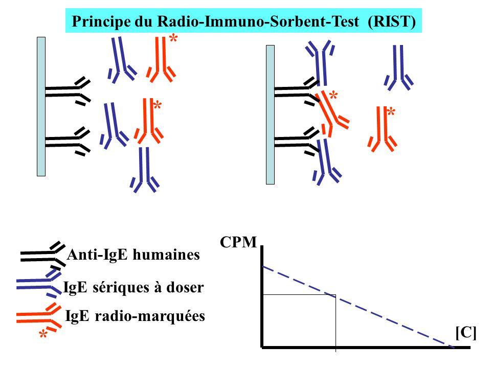 Principe du Radio-Immuno-Sorbent-Test (RIST)