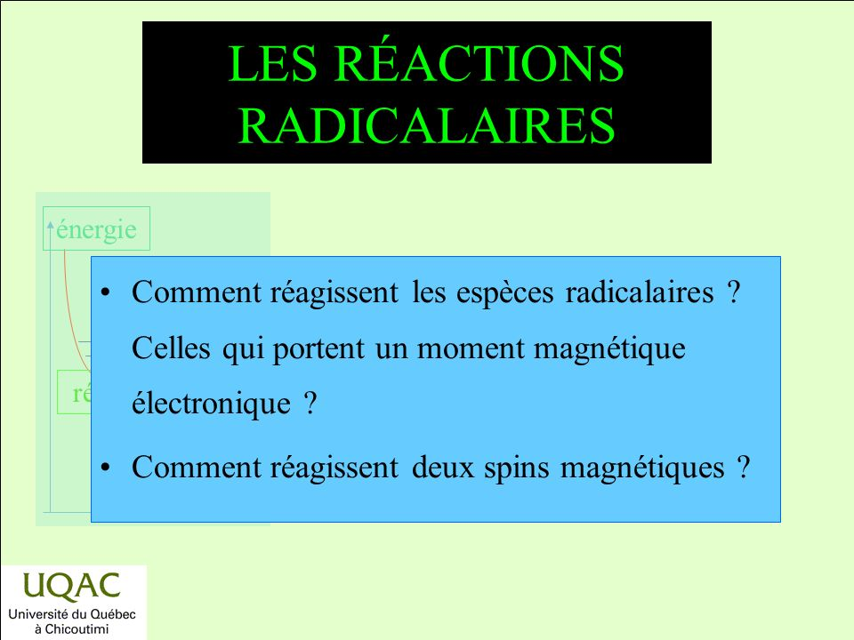 LES RÉACTIONS RADICALAIRES
